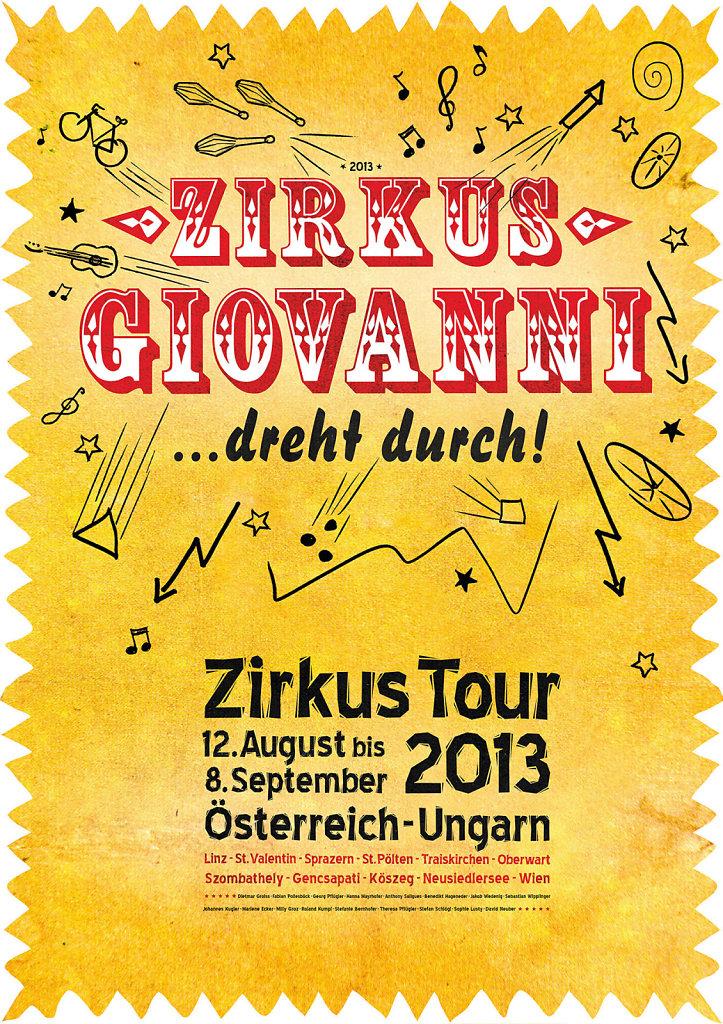 Poster /Plakate Zirkus Giovanni